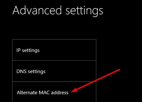 xbox alternate mac address