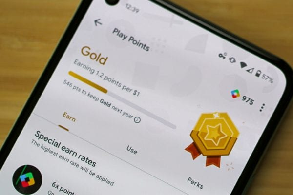 Google Play Points on Pixel 5