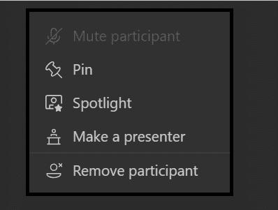 Mute participant microsoft teams