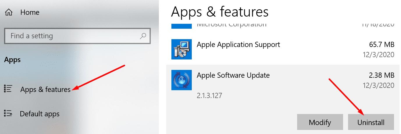 aplikasi dan fitur uninstall aplikasi