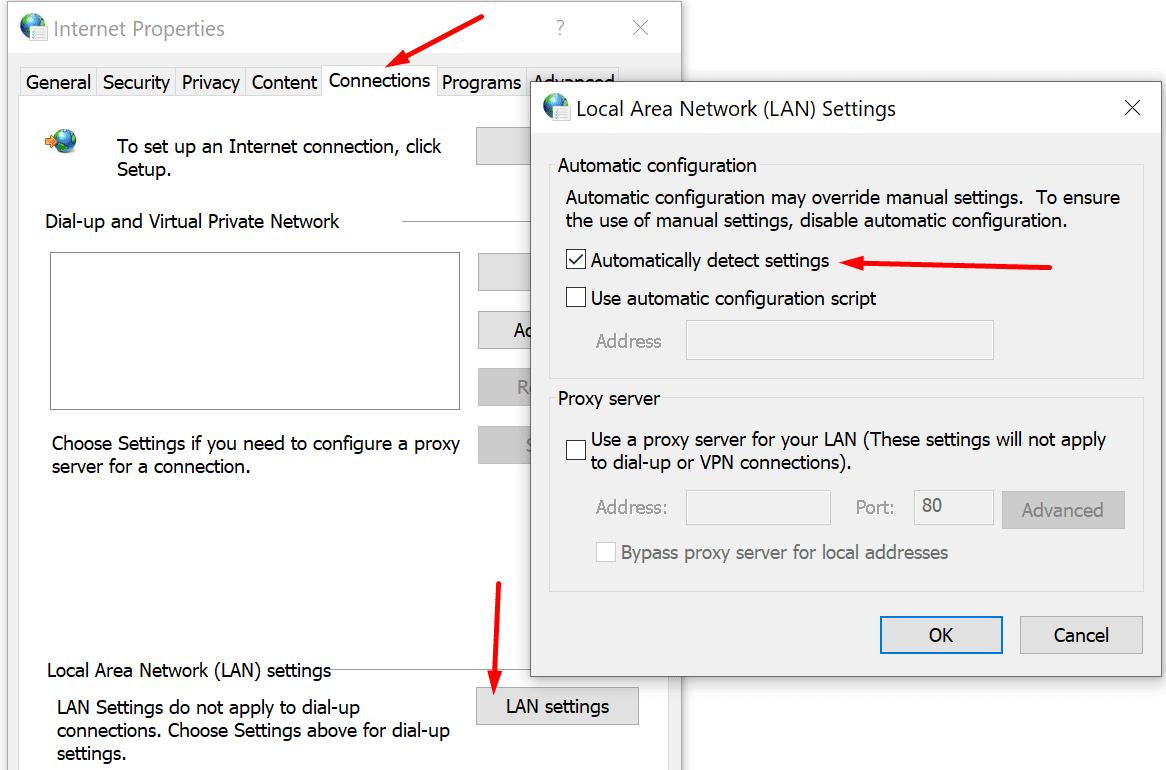 automatic LAN configuration