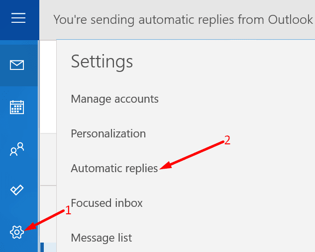 automatic replies outlook