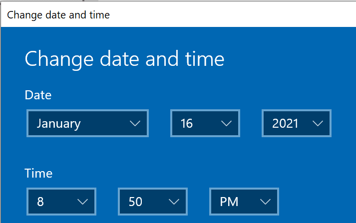 change date time settings windows