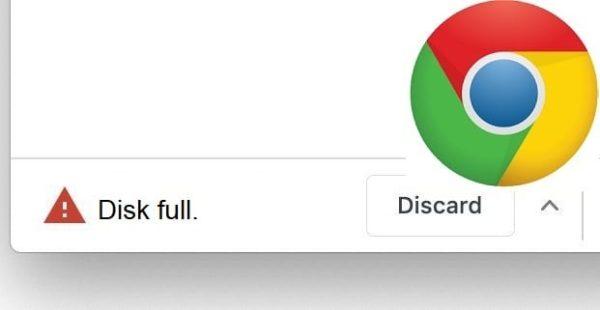 Google Chrome: Disk Full Download Error