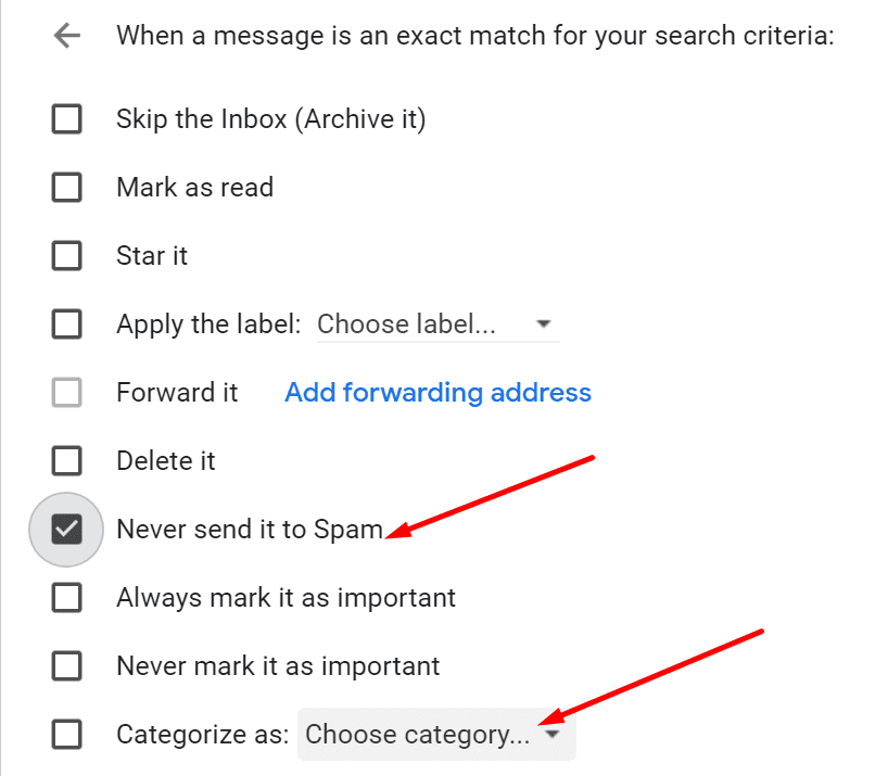 create email filter gmail