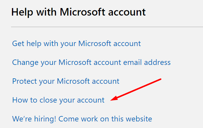 how to close microsoft account