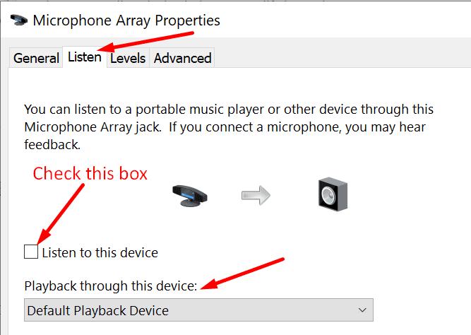 microphone array properties