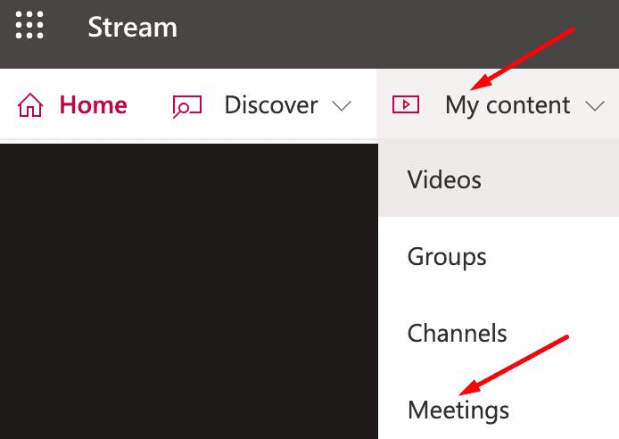microsoft mengalirkan rapat konten saya