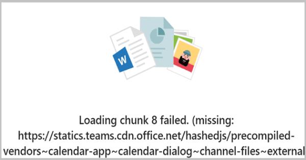 Fix Microsoft Teams Error Loading Chunk