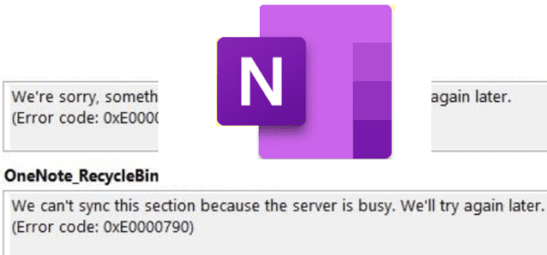 onenote server is busy