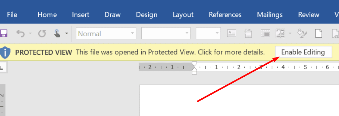 protected view enable editing