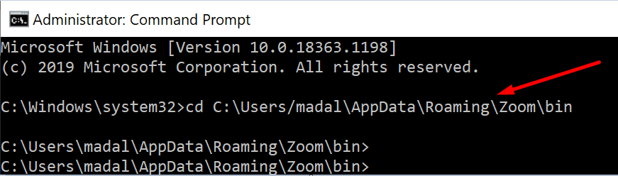 run zoom video converter via command prompt