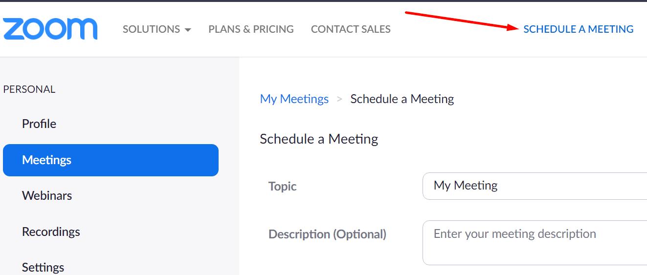 schedule a meeting zoom.us