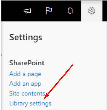 sharepoint library settings