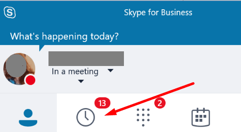 skype for business conversations tab