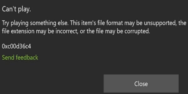skype recording error 0xc00d36c4