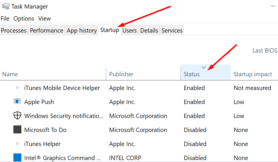 task manager disable startup programs
