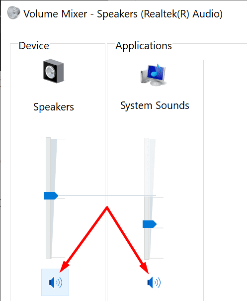 volume mixer settings pc