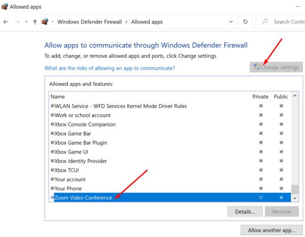 whitelist zoom windows firewall