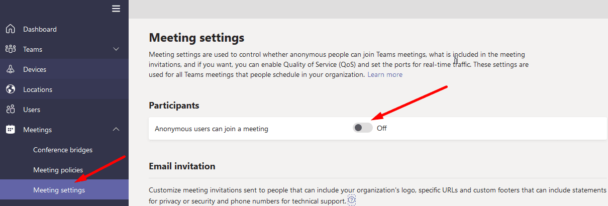 Anonymous users can join a meeting