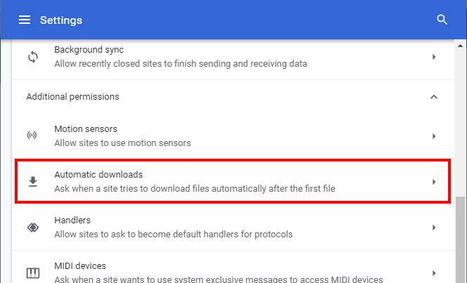 Chrome Automatic Downloads