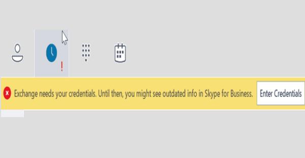 fix Skype Exchange Needs Your Credentials