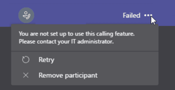 Teams: You Are Not Set up To Use This Calling Feature