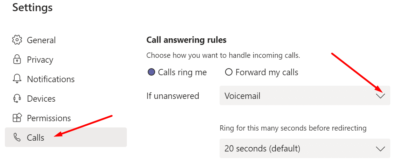 call answering rules microsoft teams