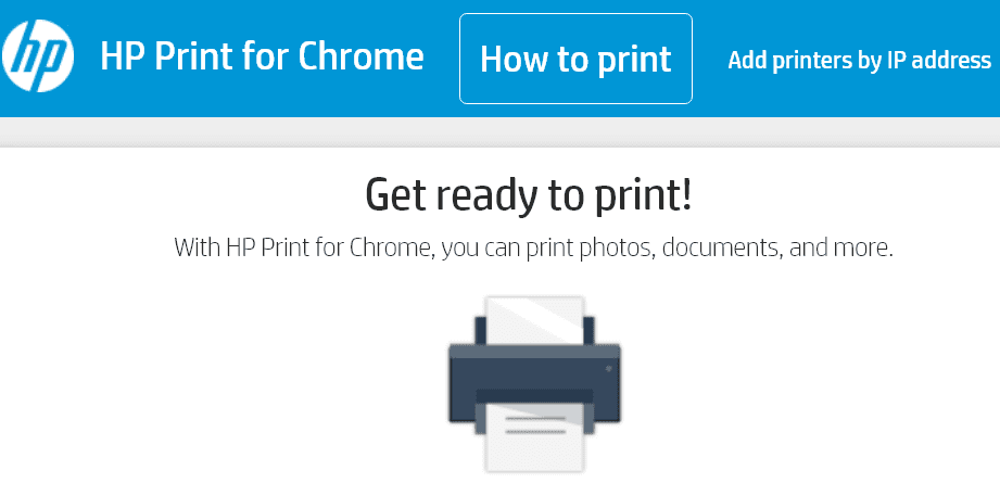 hp print for chrome app