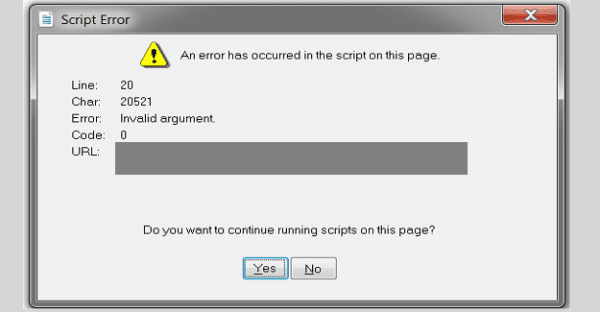 Teams: An Error Has Occurred in the Script on This Page
