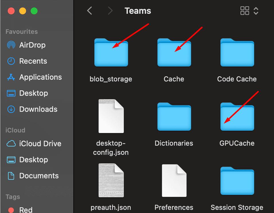 microsoft teams delete app cache macOS