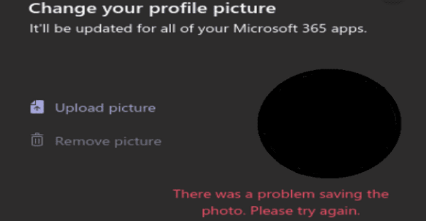 Microsoft Teams: There Was a Problem Saving the Photo