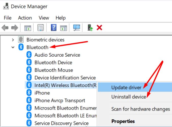 update bluetooth driver pc