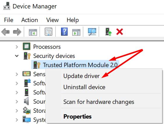 update trusted platform module
