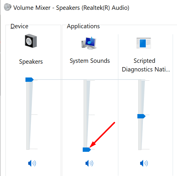 volume mixer windows 10