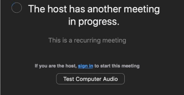 Fix Zoom: Another Meeting in Progress Error