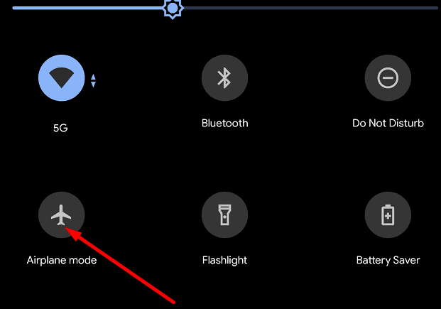 Airplane Mode google pixel 5