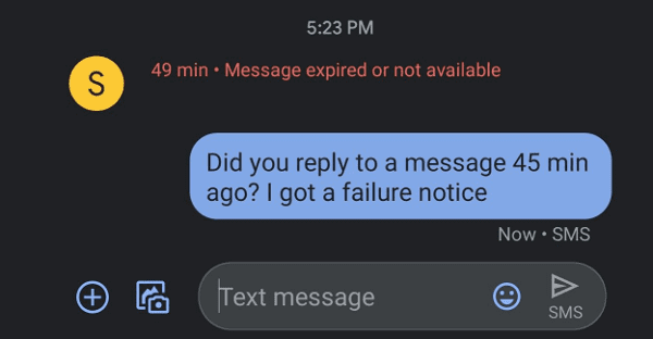 Oneplus Message Expired or Not Available Fix