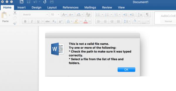 fix Windows 10 the Filename Is Invalid When Saving