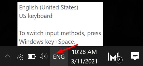 check keyboard language settings