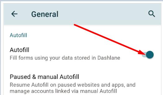 dashland enable autofill android