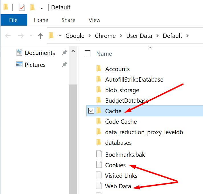 delete teams cache chrome