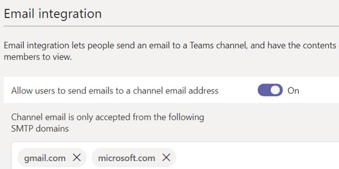 email integration microsoft teams