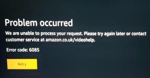 How to Fix Amazon Prime Video Error 6085