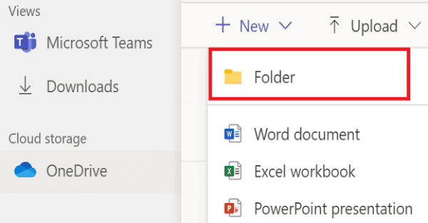 Microsoft Teams: Cannot Create New Folder in Files