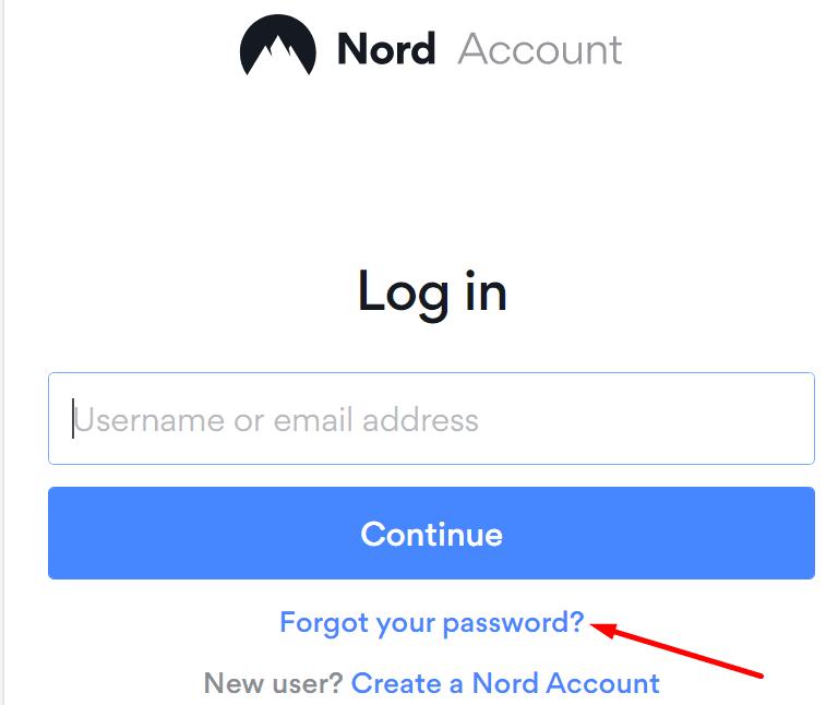 nordpass reset password