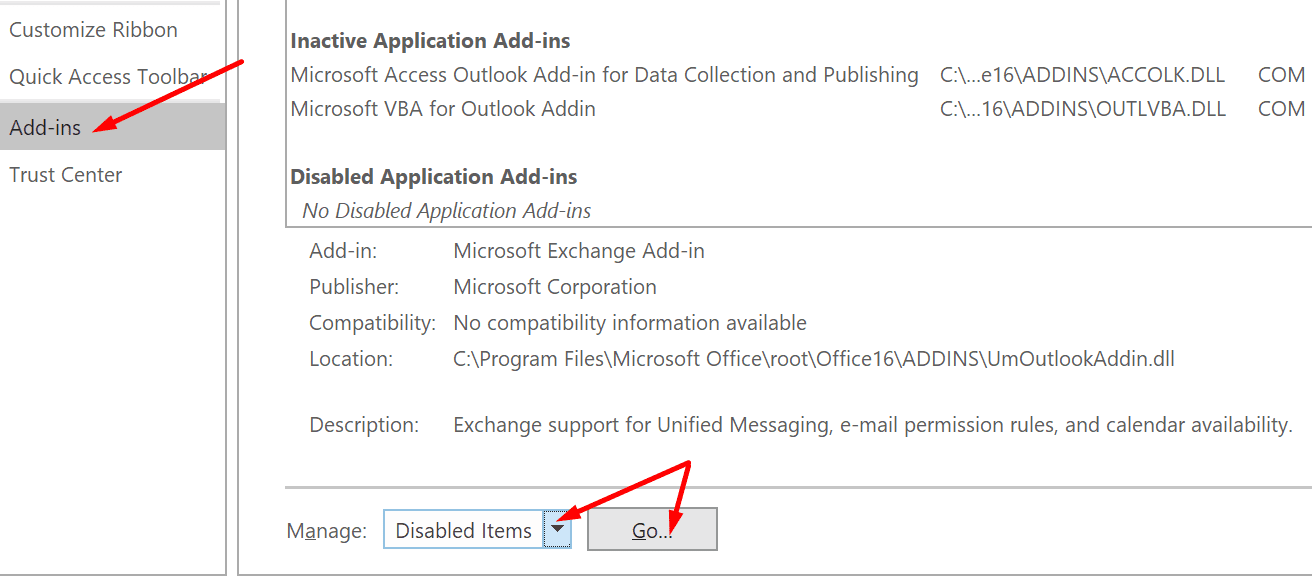 outlook add-ins manage deleted items