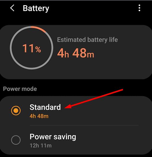 samsung galaxy watch battery settings