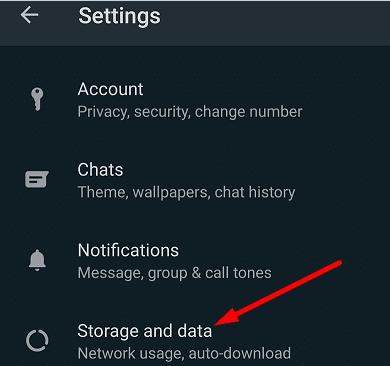 storage and data whatsapp