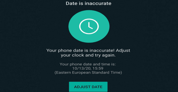 Fix Whatsapp Error Phone Date Is Inaccurate on Android